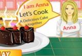 العاب طبخ كيك الشوكولاتة مع آنا